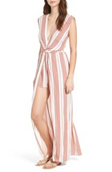 Everly Twist Front Maxi Romper Mauve