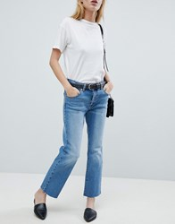 Dr. Denim Dr Meadow Slim Cropped Jean Shaded Mid Blue