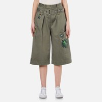 Marc Jacobs Women's Long Cargo Shorts Military Green