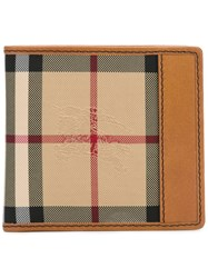 Burberry Printed Fold Out Wallet Brown