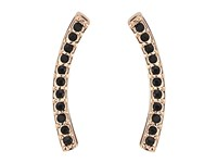Rebecca Minkoff Pave Ear Climber Earrings Rose Gold Black Earring