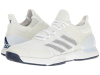 Adidas Adizero Ubersonic 2 Footwear White Silver Metallic Mystery Blue Men's Tennis Shoes