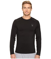 Spyder Stryker Top Black Men's Long Sleeve Pullover