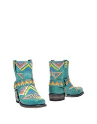 Sendra Ankle Boots Light Green