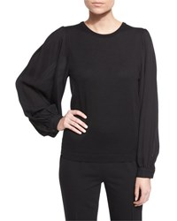 Ralph Lauren Balloon Sleeve Cashmere Sweater Black