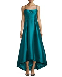 Black Halo Adashi Sleeveless High Low Gown Grotto Green