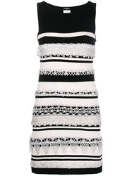Chanel Vintage Striped Dress Black