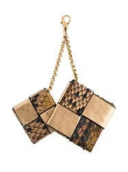 Ermanno Scervino Double Cubes Keyring Metallic