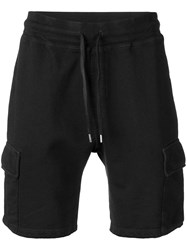 Dondup Cargo Pocket Track Shorts Black