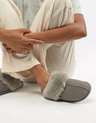 Just Sheepskin Mule Slippers Grey