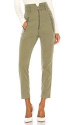 Marissa Webb Josh Canvas Pant In Olive. Military Green
