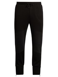 Marcelo Burlon Raimundo Cotton Jersey Track Pants Black