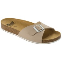 Scholl Spikey Mule Sandals Beige White