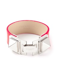 Saint Laurent Studded Bracelet Pink And Purple