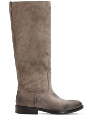 Strategia 20Mm Vintage Suede Tall Boots Taupe