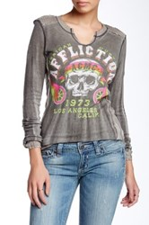 Affliction Ac Velocity Reversible Shirt Gray