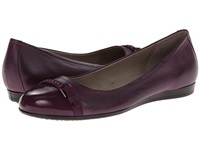 Ecco Touch 15 Ballerina Burgundy Burgundy Women's Slip On Dress Shoes