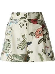 Gucci 'Flora Knight' Shorts Nude And Neutrals