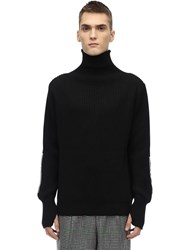 Lc23 Vulcano Merino Wool And Acrylic Sweater Black