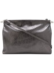Ann Demeulemeester Lu Silver Shoulder Bag Women Leather One Size Metallic