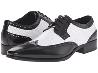 Stacy Adams Melville Black White Men's Lace Up Wing Tip Shoes