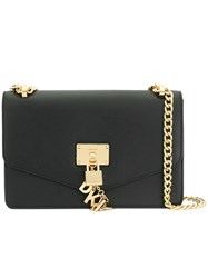 Dkny Padlock Flap Shoulder Bag Black