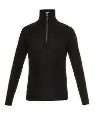 Saint Laurent Zip Up Wool Sweater