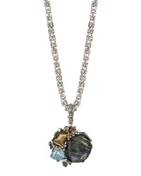 Stephen Dweck Mixed Cluster Pendant Necklace
