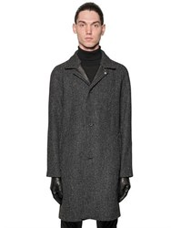 The Kooples Oversized Wool Tweed Coat