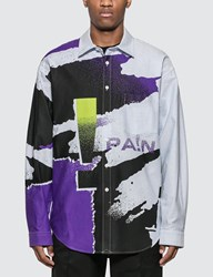 Alexander Wang Oversize Striped Oxford Shirt Multicolor