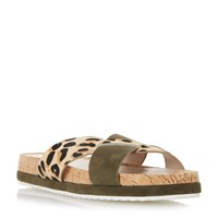 Biba Luper Cross Over Sports Sandals Khaki