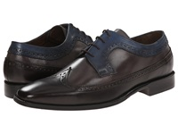 Messico Chamarel Brown Grey Blue Men's Dress Flat Shoes Black