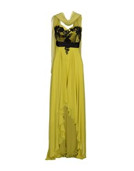 Musani Couture 3 4 Length Dresses Acid Green