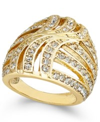Inc International Concepts Gold Tone Pave Statement Stretch Ring Only At Macy's