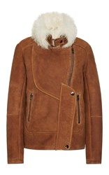Hotel Particulier Fur Bomber Coat Brown