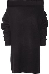 Opening Ceremony Off The Shoulder Wool Blend Sweater Dress Black