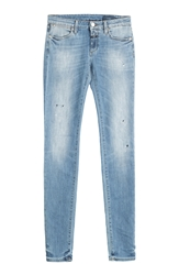 Closed Distressed Skinny Jeans