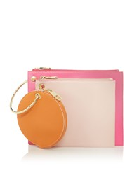 Therapy Triple Pouch Clutch Pink