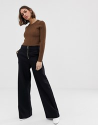 Selected Tola Wide Leg Trousers Black