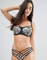 Playful Promises Lotus Half Cup Bra Multicoloured