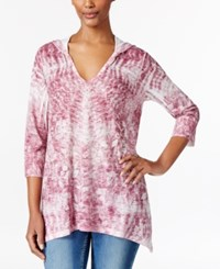 Styleandco. Style Co. Petite Sublimated Print Hoodie Only At Macy's Pale Raspberry