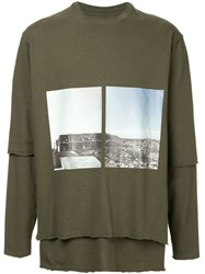 Song For The Mute Long Sleeved Sweatshirt Green