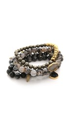 Lacey Ryan Emperor Bracelet Set Grey Gold
