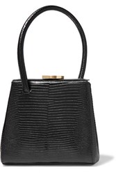 Little Liffner Mademoiselle Small Lizard Effect Leather Tote Black