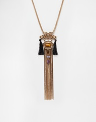 New Look Premium Tassel Necklace Multi