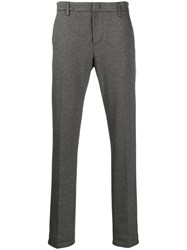 Dondup Slim Fit Tailored Trousers Black