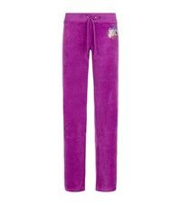 Juicy Couture Collegiate Velour Boot Trackpants Female Purple