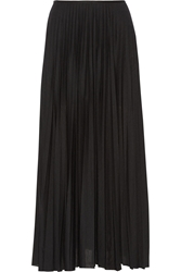 Theory Miklo Pleated Jersey Maxi Skirt