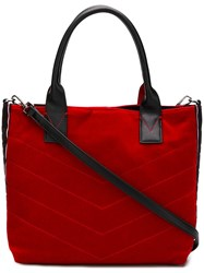 Pinko Stitched Tote Bag Red