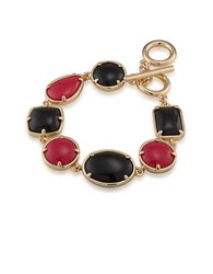 1St And Gorgeous Multi Shape Flex Toggle Bracelet Red Black Red And Black